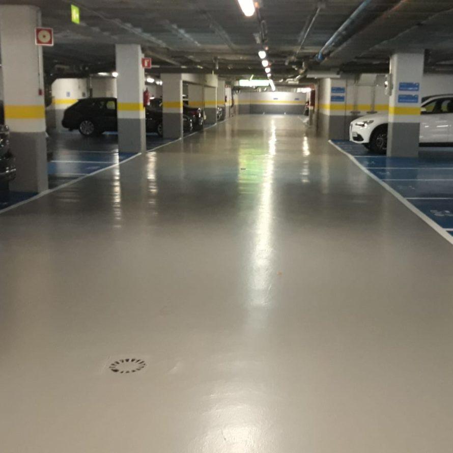 Tratamiento superficial de un aparcamiento subterráneo