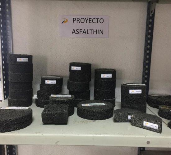 probetas del proyecto ASFALTHIN PADECASA