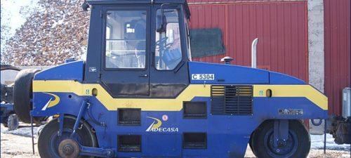 Compactadores neumático CORINSA maquinaria de firmes y pavimentos PADECASA